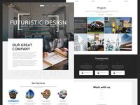 Interior Architect Website UI