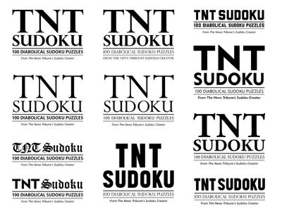 TNT Sudoku typography explorations