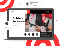 Watch Store Website ux design ui design uiuxdesign uidesign ui  ux uiux ui ecommerce store sportswear sports design sports sport garmin watches watch website concept website design webdesign website