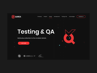 QArea Website Redesign redesign it company it illustration geometric geometry illustrations qa testing website design website dark mode dark ui dark theme dark ux ui