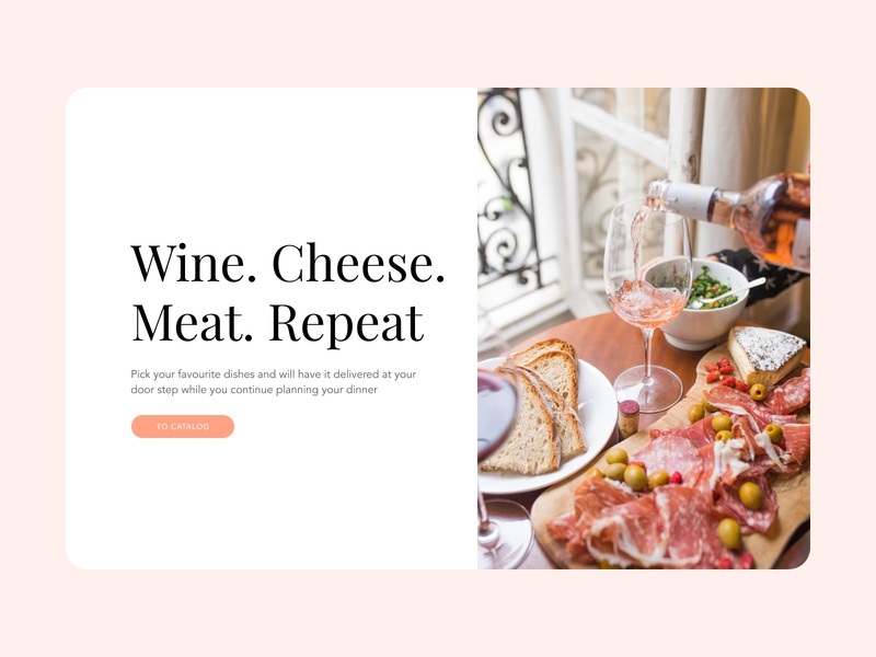 Organic Meat & Wine Store food pink clean website ux ux  ui uiux ui retail store store ecommerce retail cheese wine meat