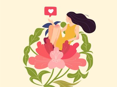 The Borrowers heart flower girl ui fantasy art colorful art illustration art