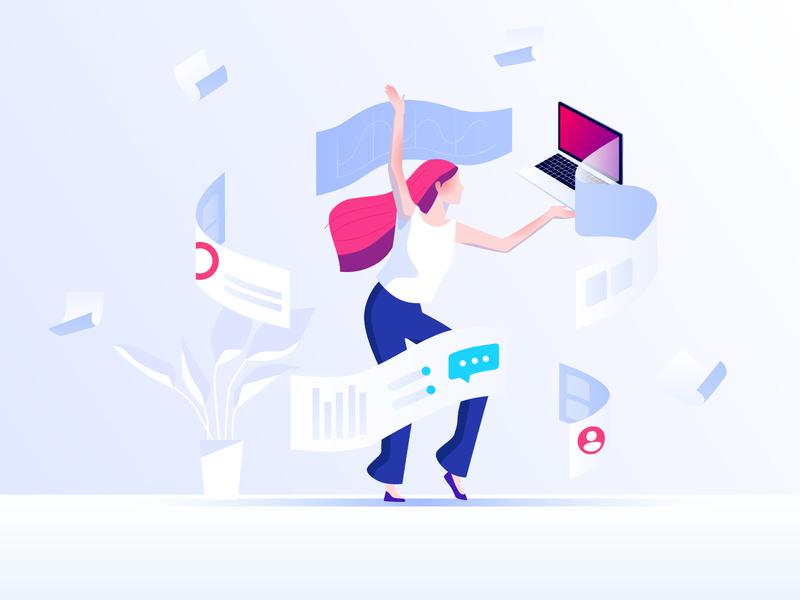 Dancing with work work dancing illustration