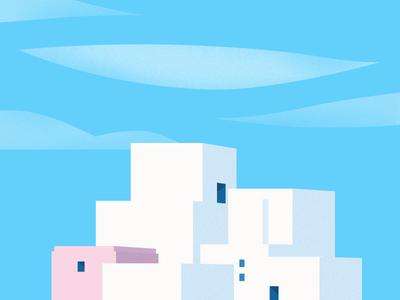 Buildings cloud buildings sky illustration