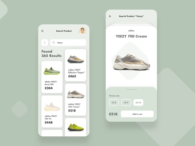 Shop App for TapIn design colorful flat app minimal branding product search sneakers shop ux shadows ui