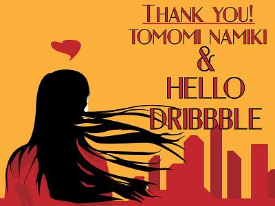 Hello Dribbble graphic design illustration retro