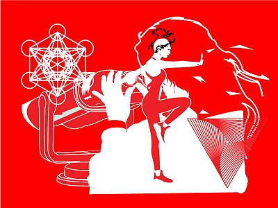 Spiritual High Concept art vector illustration