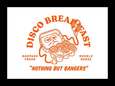 Disco Breakfast logo vector typography illustration branding brand creatives bristol graphic  design design
