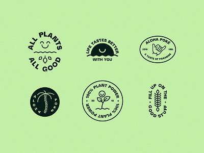 Aloha Poké vector illustration logo branding brand creatives bristol typography design graphic  design