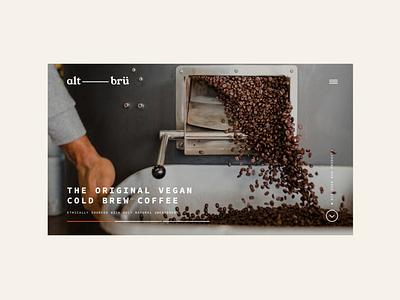 Alt Brü website creatives bristol typography web ui ux graphic  design branding design