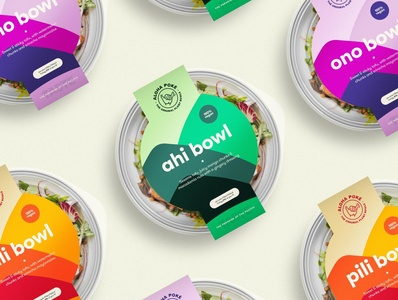 Aloha Poké Packaging bristol branding typography illustration creatives logo brand sustainable vegan packaging graphic  design design