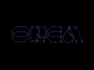 ORCA Logo custom type brand typography graphic  design bristol creatives design branding custom logo bezier curves