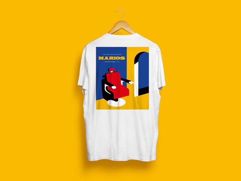 Italian Hair Stylist - Marios brand tshirts fashion design illustration