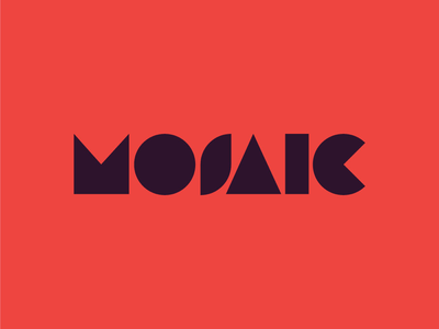 Mosaic shapes event branding graphic  design brand branding typography red creatives bristol geometric logo design
