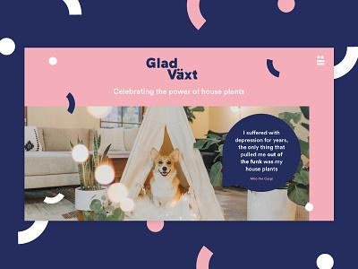 Glad Växt - Digital digital design digital website design website ui creatives bristol logo graphic  design design branding brand