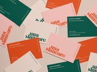 Una skincare business cards v1