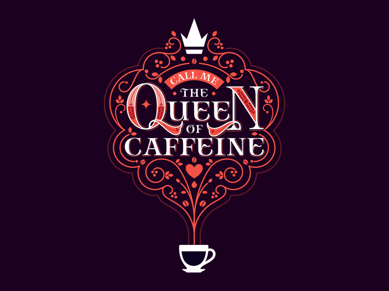 Daily Designer Realities :: Coffee Queen queen coffee bean coffee illustration cute lettering art lettering