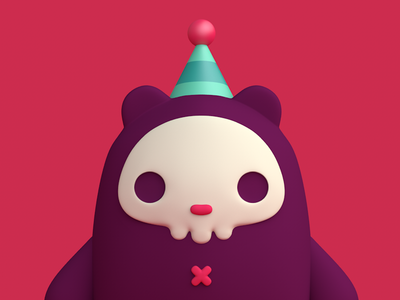 Imaginary Friends skull bear charater debut cute monster cgi c4d 3d