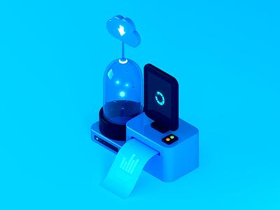 Salesforce Platform high tech tech ui isometric design illustration c4d 3d