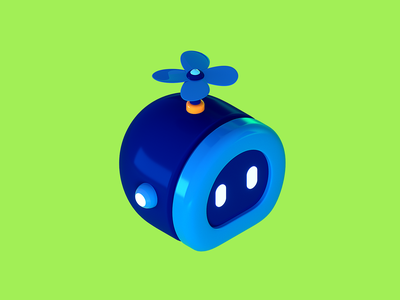 Salesforce Robot design high tech charater tech isometric illustration cute cgi c4d 3d