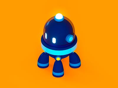 Salesforce Robot robot design high tech charater tech isometric illustration cute cgi c4d 3d