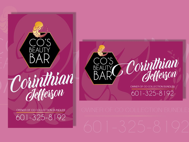 Cos Beauty Bar Business Cards By Cortney Quinn Dribbble Dribbble