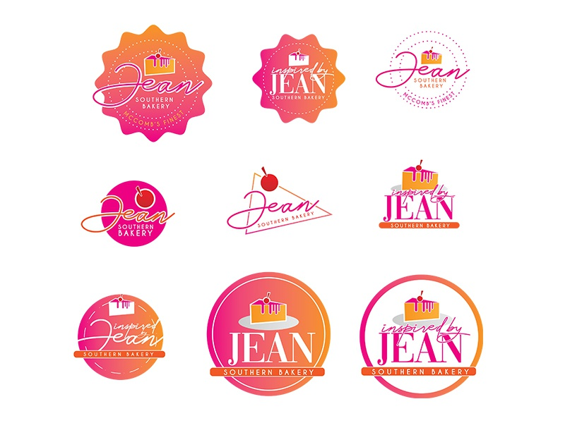Inspired By Jean: Southern Bakery (Bakery Logo) graphic design pastry bakery logo design logo typography illustration design