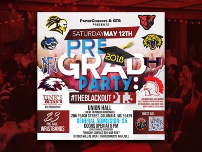 Pre-Graduation Party (Flyer)