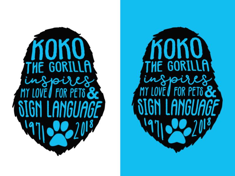 Koko The Gorilla Inspires My Love for Pets & Sign Language pet niche typography blue communication deaf culture story childhood kitten koko gorilla sign language deaf