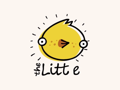 The Little funny chick chicken cute motiondesignschool logo animation animal character eat food