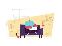 Airbnb Logo Animation illustration animation space music location laptop sofa logo animation logo character motiondesignschool airbnb