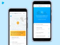 Tracking Experience address receiver logistics tracking pixel mobile product design ui ux loggi