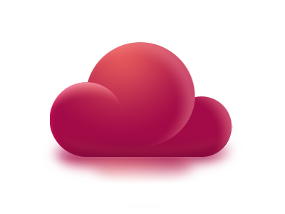 Pretty Little Cloud snipp cloud pink red reflection fragmentation