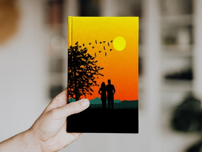 Simple Book Cover illustration
