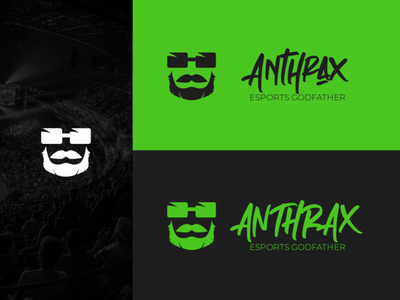 Anthrax Beard Logo Concept vector branding mettlestate geometric illustration nth esports logo design logo gaming design