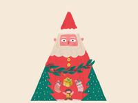 santa claus and gift