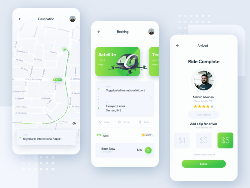 Frogs App - Public Transport Aplication transportation booking mobile dashboard illustration ui  ux public transport ui navigation map interface design drone taxi app
