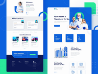 Public Health and Medical Services hospital public service services medical uiux web icons human ux ui branding design illustrations healthcare doctors hospitality website landing page animation