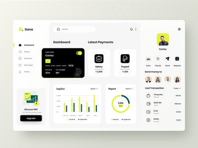 Dana - Finance Dashboard UI transactions bank product design finance fintech ui  ux web design web app dashboad overview platform dashboard design