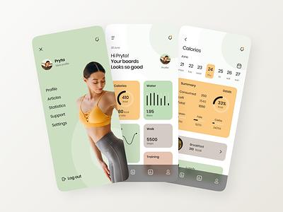 Health Assistant App assistant app activity tracking nutrition manage healthy life modern graphic design ui ux clean design app design website branding design healthy health assistant health app app branding