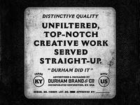 Work Served Straight-Up