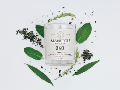 Manitou Candle Co. typography ohio cincinnati candle hand stamped packaging