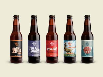 Old Wives Ales bottle range - mockup