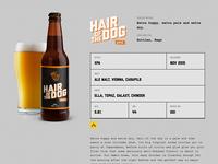 Beer detail page
