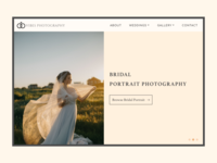 Wedding Photography Landing page.! Daily UI #003