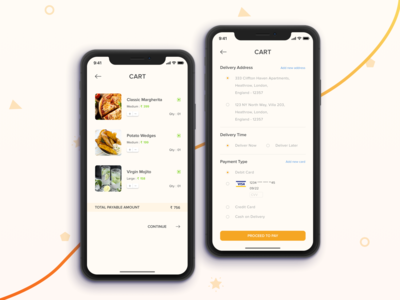 Food Ordering Cart and Payment Page