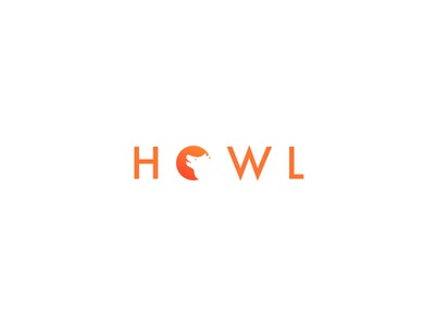 Howl affinity wolf howling gradient branding logo howling moon wolf