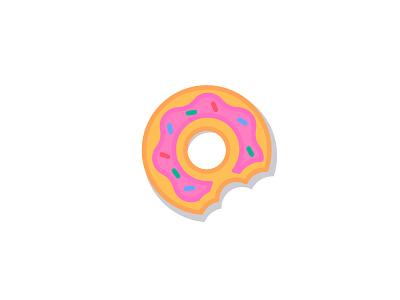 Donut 🍩 affinity designer affinity simple bite frosting dessert food doughnut donut