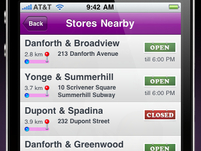 Store Locator (list/tableview) iphone stores hours ios distance open sign closed sign uitableview
