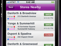 Store Locator (list/tableview)